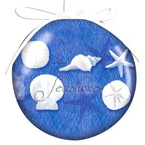 "NWTs ""Cape Shore"" Blue Water Shells Resin Ornament"